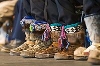 Decorative native Alaska mukluks worn by dancers at the 2007 AFN Conference