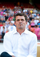 San Jose Head Coach Mark Watson watches his team before a Major League Soccer game at RFK Stadium in Washington, DC.  D.C. United defeated San Jose Earthquakes, 1-0.