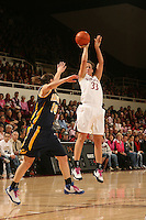 STANFORD, CA - FEBRUARY 14:  Forward Jillian Harmon #33 of the Stanford Cardinal during Stanford's 58-41 win against the California Golden Bears on February 14, 2009 at Maples Pavilion in Stanford, California.