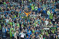 Seattle, Washington - Friday, March 31, 2017: Seattle Sounders FC vs Atlanta United FC. Final Score, Seattle Sounders FC 0, Atlanta United FC 0