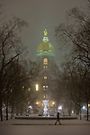 1.23.13 Dome Night Snow 2.JPG by Matt Cashore/University of Notre Dame