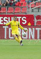 15 September 2012: Toronto FC goalkeeper Milos Kocic #30 in action during an MLS game between the Philadelphia Union and Toronto FC at BMO Field in Toronto, Ontario..The game ended in a 1-1 draw..