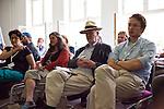 Podium »Ju?dische Kultur in.Berlin« mit Oliver Polak, Dani Levy und Sharon Brauner.