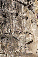 Picture of Yazilikaya [ i.e written riock ], Hattusa  The largest known Hittite sanctuary. 13th century BC made in the reign of Tudhaliya 1V . 8