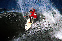 With US$250,000 in prize money the Billabong Pro at Jefferys Bay South Africa was the fourth of eight events on the 2001 ASP World Champioship Tour. The event was  staged in the legendary waves of  'Supertubes' one of the best right hand  surf breaks in the world and was won by the defending champion Jake Paterson. Taylor Knox finished 2nd. (Photo/Joli)