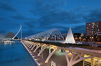 L'Umbracle Promenade, City of Arts and Sciences, Valencia, Communitat Valenciana, Spain ; , it covers and area of approx 40,000 square meters and is 75 meters high ; 1998 - 2000 ; Santiago Calatrava (Valencia, Spain, 1951) Picture by Manuel Cohen