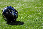 21 October 2007: A Baltimore Ravens Helmet lies on the turf prior to a game against the Buffalo Bills at Ralph Wilson Stadium in Orchard Park, NY. The Bills defeated the Ravens 19-14 in front of 70,727 fans marking their second win of the 2007 season...Mandatory Photo Credit: Ed Wolfstein Photo