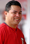 21 May 2006: Jose Vidro, second baseman for the Washington Nationals, in the dugout during a game against the Baltimore Orioles at RFK Stadium in Washington, DC. The Nationals defeated the Orioles 3-1 to take 2 of 3 games in their first inter-league series...Mandatory Photo Credit: Ed Wolfstein Photo..
