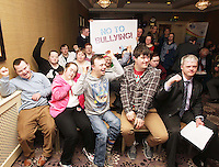 21/03/14 World Down Syndrome Day ,The National Advisory Council who are adults with Down syndrome are going to be delivering their manifesto to a bunch of TD's and MEPs and handing out fliers etc.Pictured at Buswells Hotel,Co Dublin this afternoon… Pic STEPHEN COLLINS/Collins Photos