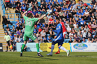 Fleetwood Town's David Ball scores his sides second goal <br /> <br /> Photographer Rob Newell/CameraSport<br /> <br /> The EFL Sky Bet League One - Gillingham v Fleetwood Town - Saturday 22nd April 2017 - MEMS Priestfield Stadium - Gillingham<br /> <br /> World Copyright &not;&copy; 2017 CameraSport. All rights reserved. 43 Linden Ave. Countesthorpe. Leicester. England. LE8 5PG - Tel: +44 (0) 116 277 4147 - admin@camerasport.com - www.camerasport.com