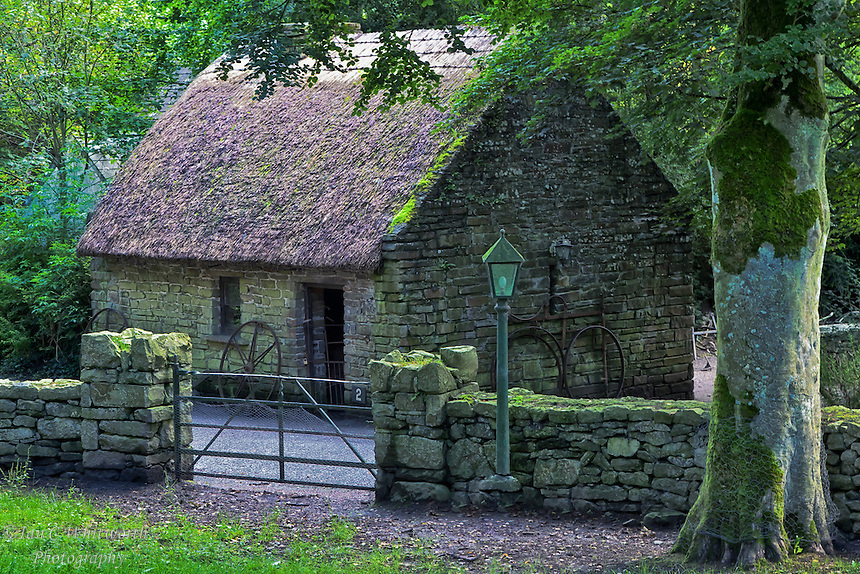 A view of an old Irish Thatched Cottage.