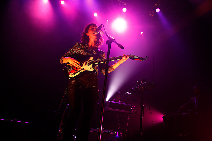 St. Vincent performs a concert at the 9:30 Club in Washington, D.C. on Tuesday, Nov. 2, 2011.