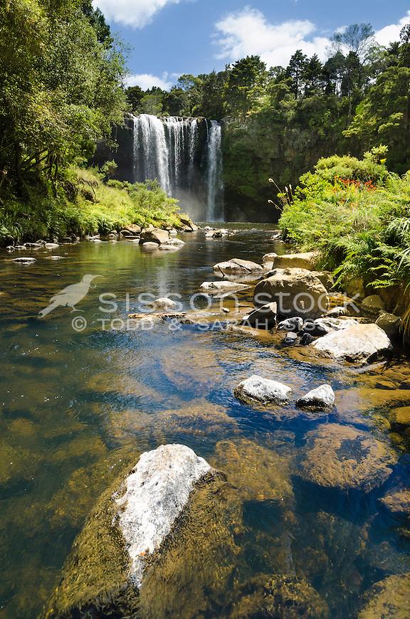 Rainbow Falls, Kerikeri, Bay of Islands, New Zealand - stock photo, canvas, fine art print