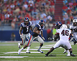 Ole Miss' Marcus Temple(4) intercepts a pass at Vaught-Hemingway Stadium in Oxford, Miss. on Saturday, September 10, 2011. The play was called back due to penalty.