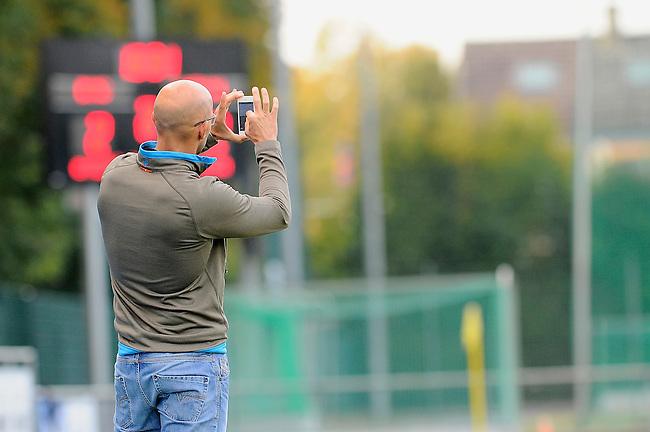 Mannheim, Germany, October 26: Finale in der Endrunde zur Deutschen Meisterschaft der MJB zwischen dem Duesseldorfer HC und dem HTC Uhlenhorst Muehlheim in der Saison 2014 am October 26, 2014  Mannheimer Hockey Club in Mannheim, Germany. Endstand 3-4 nach Golden Goal in der 2. Halbzeit der Verlaengerung (2-1, 3-3, 3-3, 3-4). (Photo by Dirk Markgraf / www.265-images.com) *** Local caption ***