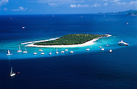 Aerial view of Sandy Cay<br />