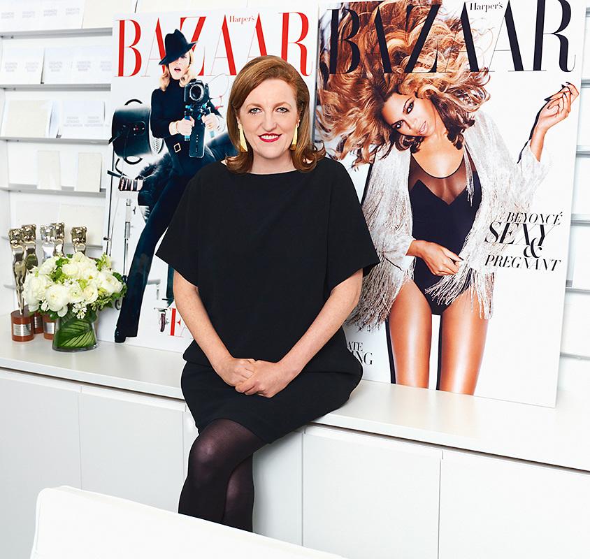 Glenda Bailey, Harpers Bazaar magazine in her NYC office.