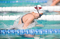 Santa Clara, California - Friday June 3, 2016: Audrey Lukawski competes in the Women's 100 Long Course Meter Breaststroke event at the Arena Pro Swim Series.