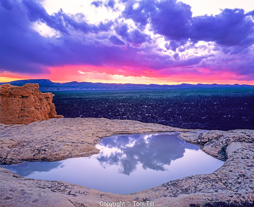 Rainwater pool reflection, El Malpais National Monument, New Mexico