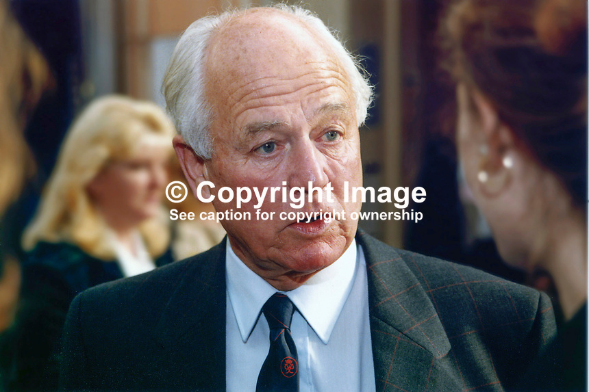 Lord Waddington, Life Peer, Conservative Party, UK, David Waddington, 19971033DW..Copyright Image from Victor Patterson, 54 Dorchester Park, Belfast, UK, BT9 6RJ..Tel: +44 28 9066 1296.Mob: +44 7802 353836.Voicemail +44 20 8816 7153.Skype: victorpattersonbelfast.Email: victorpatterson@mac.com.Email: victorpatterson@ireland.com (back-up)..IMPORTANT: If you wish to use this image or any other of my images please go to www.victorpatterson.com and click on the Terms & Conditions. Then contact me by email or phone with the reference number(s) of the image(s) concerned.