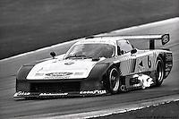 Bobby Rahal drives the Team Zakspeed USA Ford Mustang GTP during the 1983 IMSA race at Road America, near Elkhart Lake,Wisconsin.