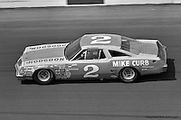 DAYTONA BEACH, FL - FEBRUARY 17: Dale Earnhardt drives Rod Osterlund's Oldsmobile through Turn 4  in the Daytona 500 on February 17, 1980, at the Daytona International Speedway in Daytona Beach, Florida.