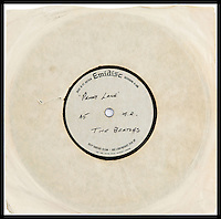 BNPS.co.uk (01202 558833)<br /> Pic: Heritage/BNPS<br /> <br /> The record cover.<br /> <br /> A never-heard-before recording of hit Beatles tune Penny Lane has emerged for sale for a staggering &pound;1,500 almost 50 years after the single rocketed to number one in the charts.<br /> <br /> The Beatles took a whopping three weeks to record Penny Lane as they experimented with new sounds and recording techniques at Abbey Road studios in 1966.<br /> <br /> Just before the single was about to be released McCartney was inspired to add the now iconic trumpet part that features at the end of the song after he saw a classical music concert on television.<br /> <br /> Now an incredibly rare version of the song that doesn't feature the trumpet part and has never been heard publicly before has come to light after it was listed for auction by a private collector - and experts say it could make &pound;1,500.