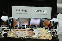 Menaji Skincare products for Men, by Michele Probst, displayed at the Makeup Show NYC, in the Metropolitan Pavilion, May 15 2011.