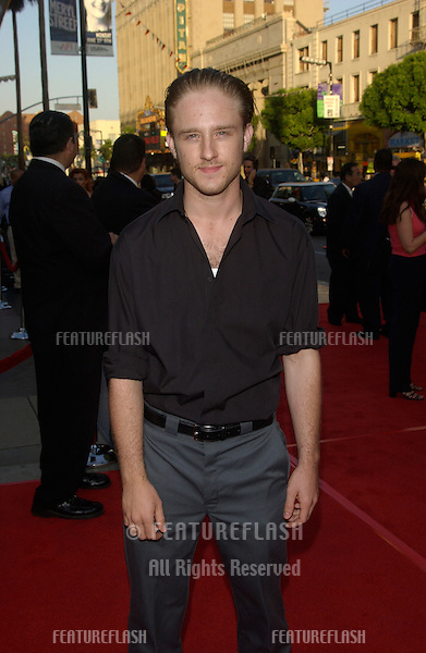 Actor BEN FOSTER at the premiere at the Chinese Theatre, Hollywood, to launch the fourth season of HBO's series Six Feet Under..June 2, 2004