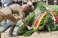 Soldiers lay flowers during the funeral of Gyula Horn former prime minister of Hungary in Budapest, Hungary on July 08, 2013. ATTILA VOLGYI