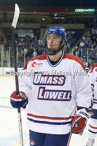 Michael Budd (Lowell - 18) - The University of Massachusetts-Lowell River Hawks defeated the University of New Hampshire Wildcats 6-3 on Sunday, November 8, 2009, at Tsongas Arena in Lowell, Massachusetts.