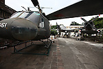 A U.S. helicopter and other captured aircraft are on display at the Viet Nam Military History Museum in Hanoi, Vietnam. Oct. 27, 2012.