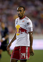 Thierry Henry (14) of the New York Red Bulls watches for the ball during the Barclays New York Challenge at Red Bull Arena in Harrison, NY.  Tottenham defeated the New York Red Bulls, 2-1.