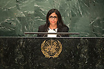 Venezuela (Bolivarian Republic of)<br /> H.E. Ms. Delcy Elo&iacute;na Rodr&iacute;guez G&oacute;mez<br /> Minister for Foreign Affairs<br /> <br /> General Assembly Seventy-first session, 17th plenary meeting<br /> General Debate