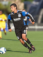 Chris Wondolowski of Earthquakes in action during the game against the Crew at Buck Shaw Stadium in Santa Clara, California on June 2nd, 2010.  San Jose Earthquakes tied Columbus Crew, 2-2.
