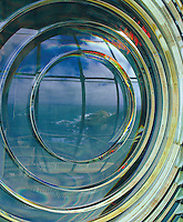 Fresnel Lighthouse lens with reflection of coastline.<br /> <br /> Larger JPEG + TIFF images available by contacting use through our contact page at :..www.photography4business.com