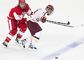 Ben Rosen (BU - 8), Johnny Gaudreau (BC - 13) - The Boston College Eagles defeated the visiting Boston University Terriers 5-2 on Saturday, December 1, 2012, at Kelley Rink in Conte Forum in Chestnut Hill, Massachusetts.