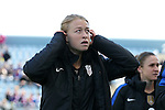 10 April 2016: Emily Sonnett (USA). The United States Women's National Team played the Colombia Women's National Team at Talen Energy Stadium in Chester, Pennsylvania in an women's international friendly soccer game. The U.S. won the match 3-0.