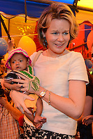 Queen Mathilde of Belgium, honorary President of Unicef Belgium,  on a four days mission in Laos