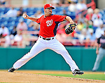 4 March 2011: Washington Nationals pitcher Jason Marquis on the mound during Spring Training action against the Atlanta Braves at Space Coast Stadium in Viera, Florida. The Braves defeated the Nationals 6-4 in Grapefruit League action. Mandatory Credit: Ed Wolfstein Photo