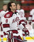 Luke Esposito (Harvard - 9) - The visiting Brown University Bears defeated the Harvard University Crimson 2-0 on Saturday, February 22, 2014 at the Bright-Landry Hockey Center in Cambridge, Massachusetts.