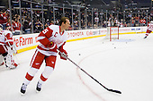 Nicklas Lidstrom (Detroit Red Wings, #5) at warm up during ice-hockey match between Los Angeles Kings and Detroit Red Wings in NHL league, February 28, 2011 at Staples Center, Los Angeles, USA. (Photo By Matic Klansek Velej / Sportida.com)