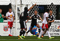 WASHINGTON, D.C - April 12 2014:Davy Arnaud  turns away after scoring the winning goal in  D.C. United vs the New York Red Bulls MLS match at RFK Stadium, in Washington D.C. United won 1-0.