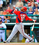 6 March 2012: Washington Nationals infielder Andres Blanco in action during a Spring Training game against the Atlanta Braves at Champion Park in Disney's Wide World of Sports Complex, Orlando, Florida. The Nationals defeated the Braves 5-2 in Grapefruit League action. Mandatory Credit: Ed Wolfstein Photo