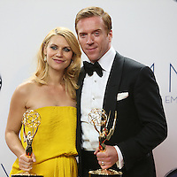 09/23/12 Los Angeles, CA: Claire Danes and Damian Lewis, winners for outstanding actress and actor in a  drama series during the 64th Primetime Emmy Awards held at NOKIA Theatre LA LIVE.