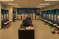 Carson, Calif. - Sunday, February 8, 2015: The USMNT locker room prior to the match. The USMNT defeated Panama 2-0 in an international friendly at StubHub Center.