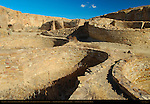 Plaza Kivas, Chetro Ketl Chacoan Great House, Anasazi Hisatsinom Ancestral Pueblo Site, Chaco Culture National Historical Park, Chaco Canyon, Nageezi, New Mexico
