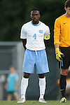 30 August 2013: North Carolina's Boyd Okwuonu. The University of North Carolina Tar Heels hosted the Monmouth University Hawks at Fetzer Field in Chapel Hill, NC in a 2013 NCAA Division I Men's Soccer match. UNC won the game 1-0 in two overtimes.