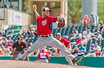 10 March 2015: Washington Nationals pitcher Taylor Jordan on the mound during a Spring Training game against the Miami Marlins at Roger Dean Stadium in Jupiter, Florida. The Marlins edged out the Nationals 2-1 on a walk-off solo home run in the 9th inning of Grapefruit League play. Mandatory Credit: Ed Wolfstein Photo *** RAW (NEF) Image File Available ***