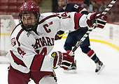 Alexander Kerfoot (Harvard - 14) - The Harvard University Crimson defeated the US National Team Development Program's Under-18 team 5-2 on Saturday, October 8, 2016, at the Bright-Landry Hockey Center in Boston, Massachusetts.